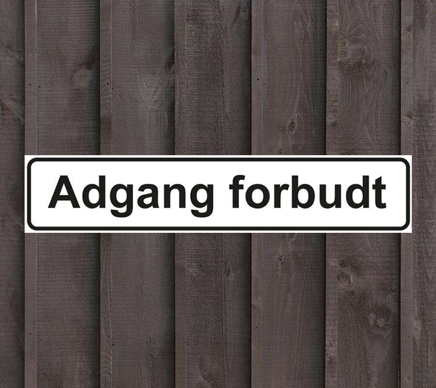 Adgang-forbudt-skilt
