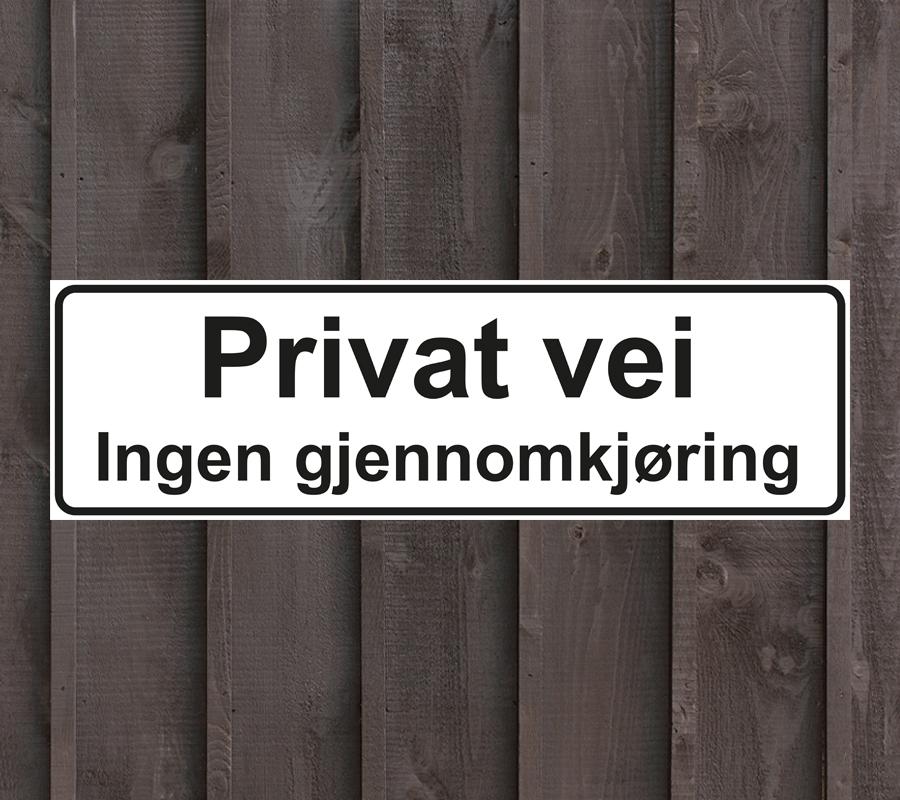 Privat-vei-skilt