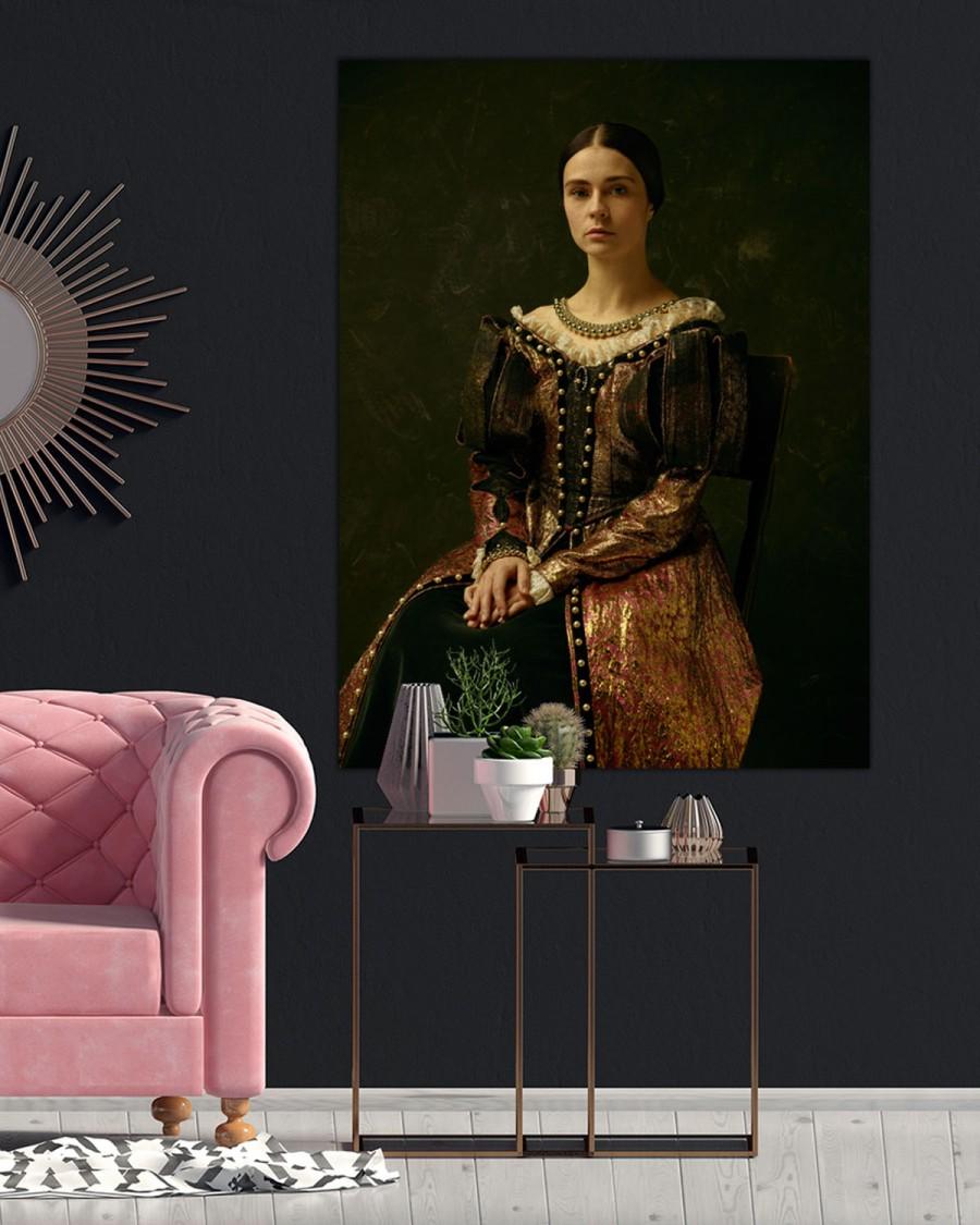 Interiør-Mock-Portrett