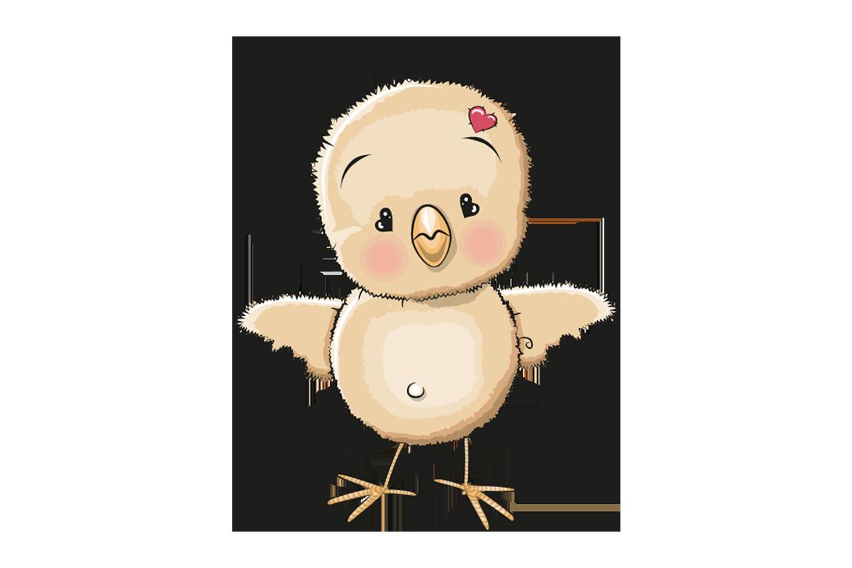 Veggdekor-Kylling