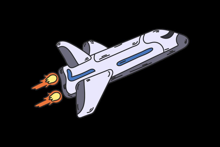 Veggdekor-Romskip
