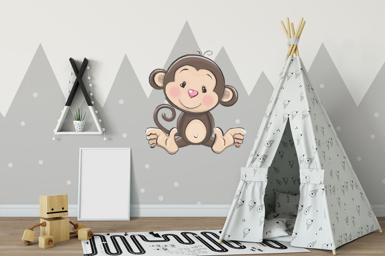 Veggdekor-Ape