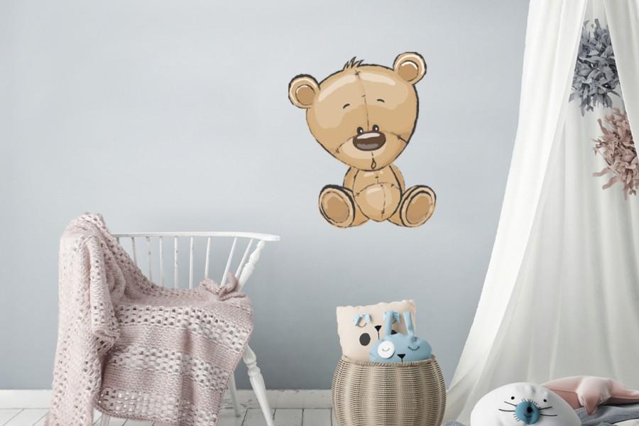 Veggdekor-Bamse-Bjørn