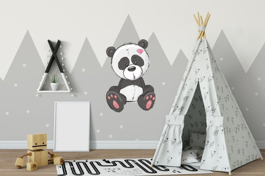 Veggdekor-Panda