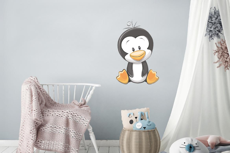 Veggdekor-Pingvin