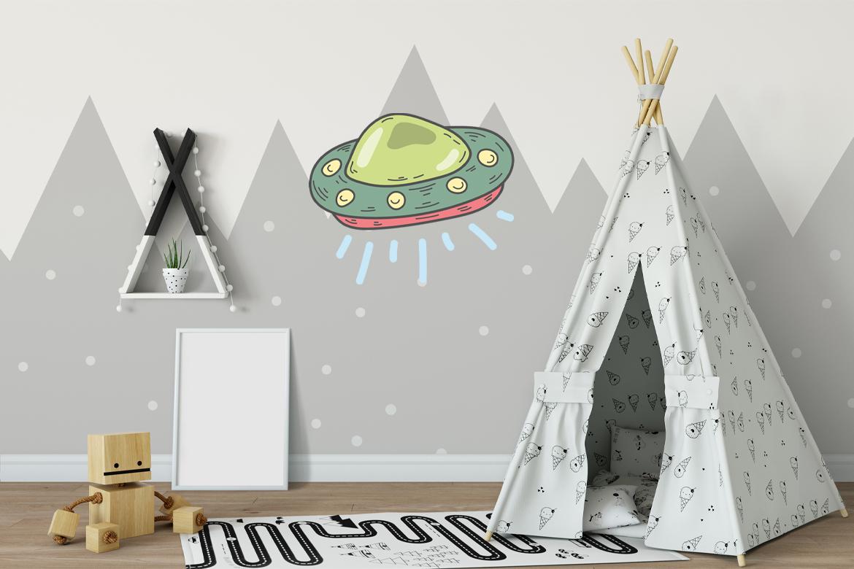Veggdekor-UFO