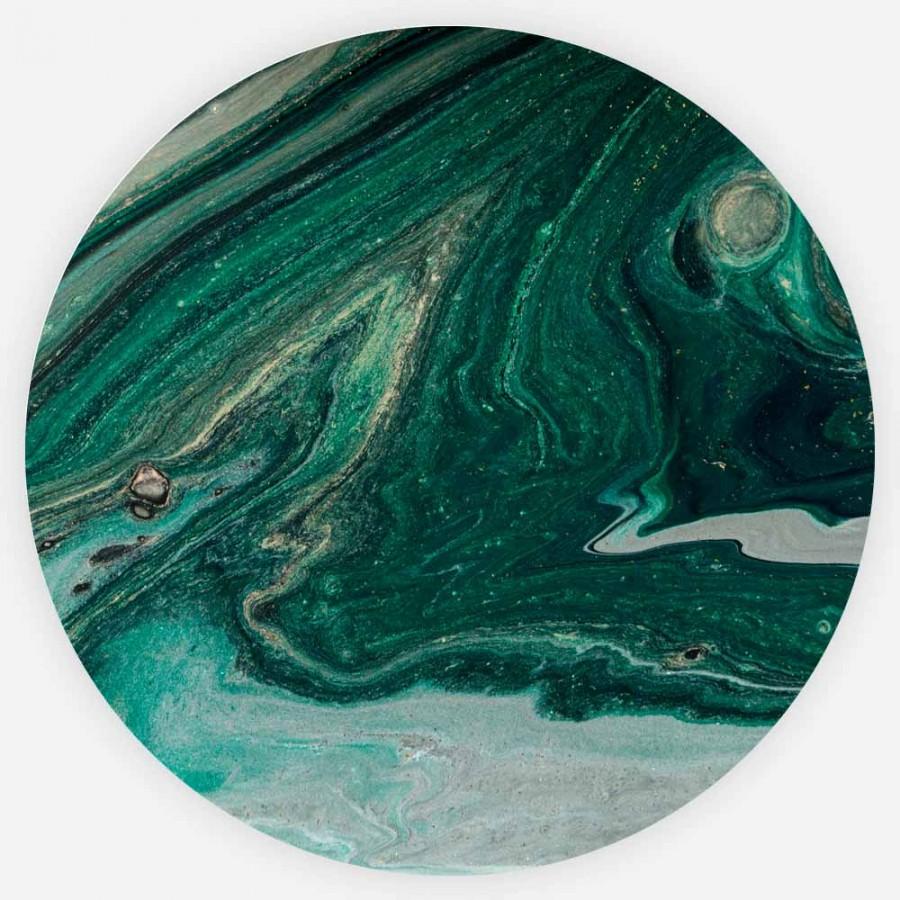 Interiør-Grønn-Marmor-Rund