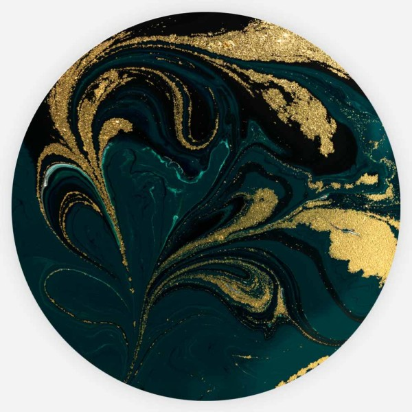 Interiør-Gull&Grønn-Marmor-Rund