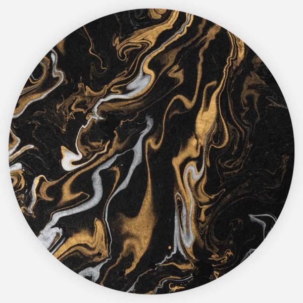 Interiør-Gull-Marmor-Rund