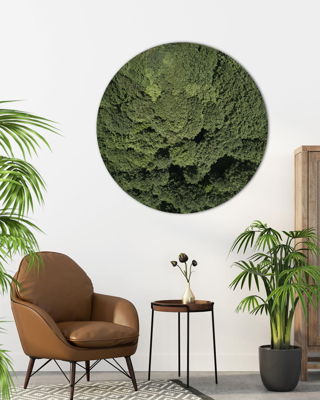 Interiør-Mock-forest-rund