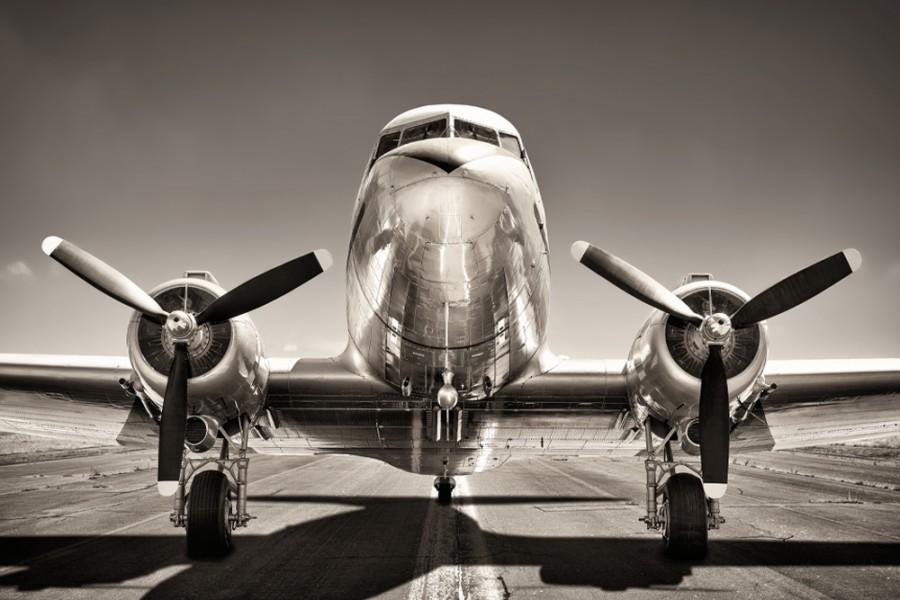 interiørbilde retro fly