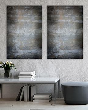 Interiør - bilde til vegg - sprukken betong